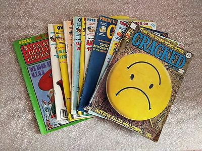 TEN issues Cracked magazine 1977-1980 Mad