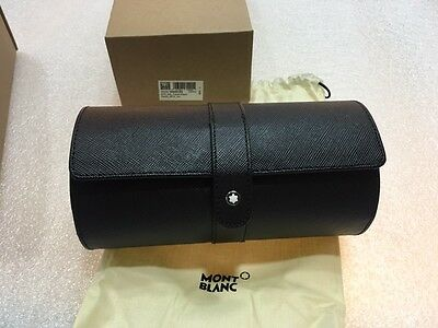 Montblanc Sartorial Black Leather Travel Watch Pouch - New In Box