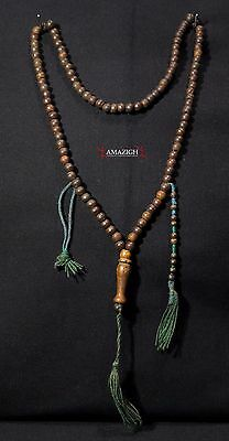 Old Chaplet Tasbih - 100 Wooden Beads - South Morocco