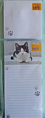 Cats Protection Magnetic Memo Pad and Sticky Notes