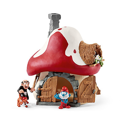 """The Smurfs 20803 Schleich Smurf House with Papa Smurf and Gargamel and Azrael"""""""