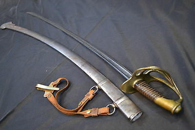 Antique Civil War Era French Importcavalry Saber Sword Nice Condition/hanger Ria