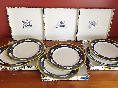 "Lot de 6 assiettes plates""JC de Castelbajac"" - Manufacture Royale de Limoges"