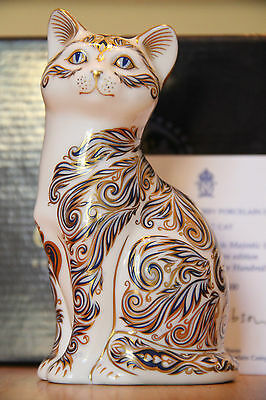 Royal Crown Derby Paperweight-The Majestic Cat-1st Quality Ltd Edn Boxed Signed