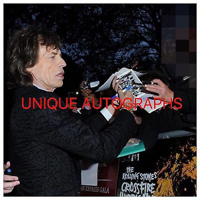 Sir Mick Jagger Personally Signed White Card, The Rolling Stones, Photo Proof, 1