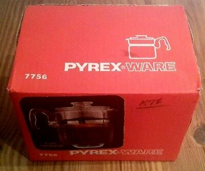 Vintage New in Box PYREX 6 cup Coffee Rangetop Percolator 7756 with heat speader