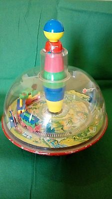 Old spinning top metal toy