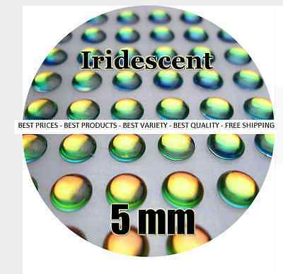 IRIDESCENT / Wholesale 3-12mm 3D Holographic Fish Eyes, Fly Tying, Jig, Lure Ma