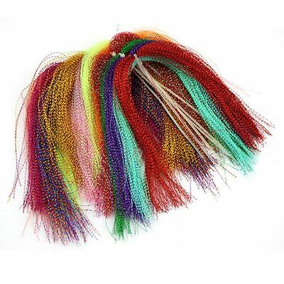 15 bags/set Fly Tying Fly Fishing Crystal Flash Feather Line Tinsel Chenilleoes