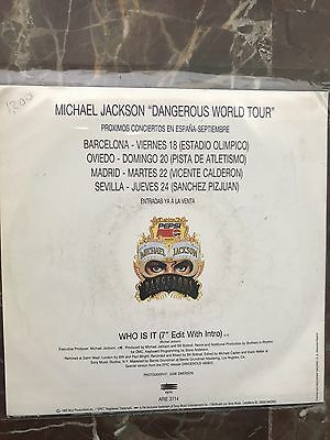 """Michael Jackson 7"""" Who Is It Promotional Spanish Mega Rare Different Back Cover"""