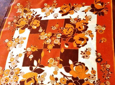 Vintage Retro scarf Orange Floral