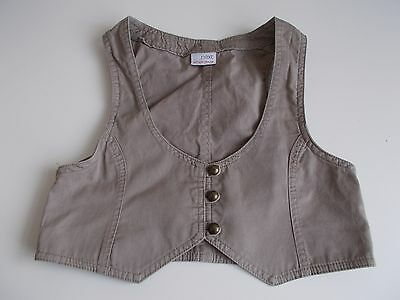 Girl's Brown Cotton  Waistcoat By Next Age 9 Years