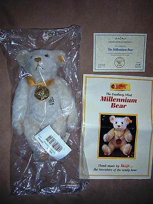 """(NEW) STEIFF """"MILLENIUM BEAR""""  (Sealed in bag,never been out) !!!!"""