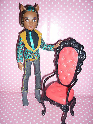 """Monster High """"Sweet 1600"""" Clawd Wolf Doll Excellent Condition."""
