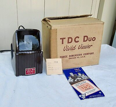 Vintage Boxed  TDC Duo  Vivid  Viewer Three Dimension Company EC Chicago EX.++
