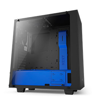 NEW NZXT S340 Elite Matte Black and Blue