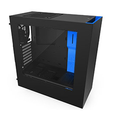 NEW NZXT S340 Mid Tower Case Black/Blue