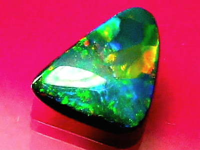 Top Quality Outstanding Brilliant Rare Colour Pattern Solid Black Opal 2.19 ctw