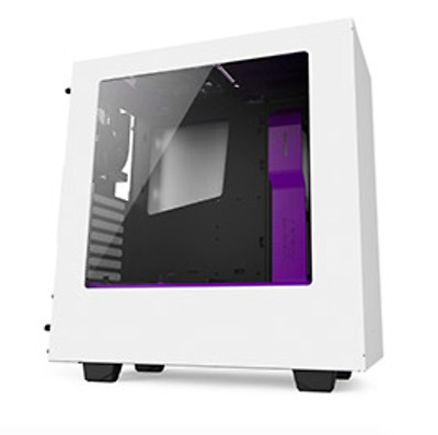NEW NZXT S340 Mid Tower Case White/Purple