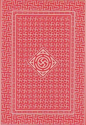 Playing Cards Single Swap Antique Wide Geometric Peacetime Good Luck SWASTIKA 3