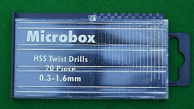 Micro drills box set for use in clock repair and jewellery making