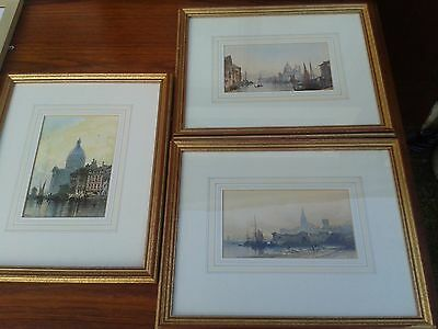 3 Stunning Vintage LITHOGRAPH hand coloured prints by Paul Marny French Artist 1