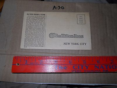 1910-20 ADVERTISE CHARLES WILLIAM STORES NY NY Clothing Sign Up friends Mail in