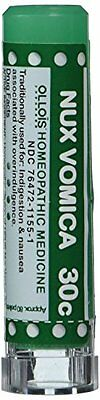 Ollois Lactose Free  Homeopathic Medicines, Nux Vomica 30C Pellets, 80 Count