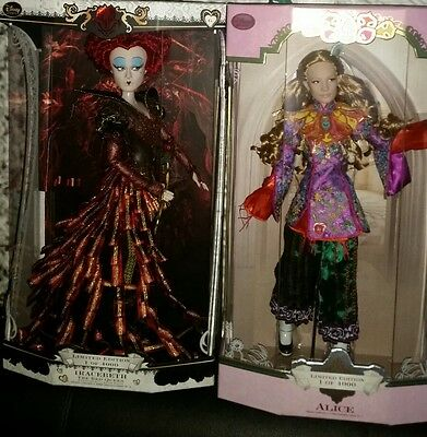 disney limited edition doll alice and red queen