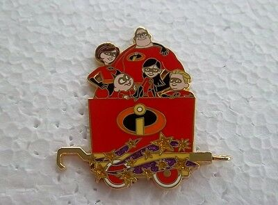 *~* Disney The Incredibles Character Train Collection Mystery Pin Tin Pin *~*