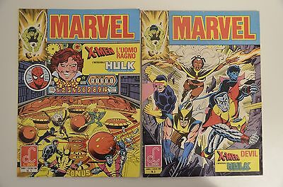 Marvel 1-2 (X-Men - Uomo Ragno - Hulk - Devil) - Labor Comics 1986