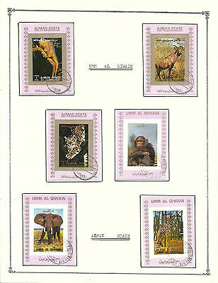 UMM AL QIWAIN  Amazing Collection V.F. Used Stamps Hinged on list Animals