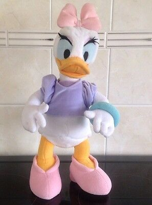 Disney poseable Daisy Duck soft toy disneyland Rare