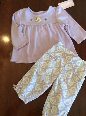 NWT~~  Girls Gymboree Cuddly Lambs Swing Top & Corduroy Pants Size~ 3-6 months