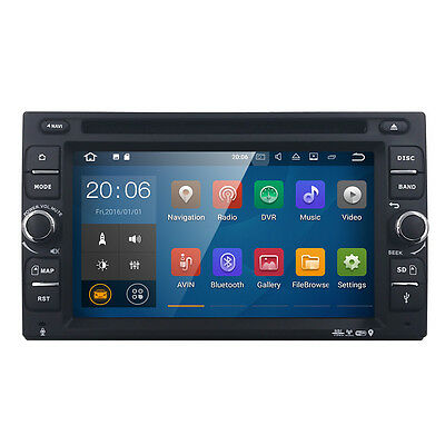 HIZPO Navigation GPS Android 7.1 2DIN Car Stereo DVD Player WIFI Radio in Dash