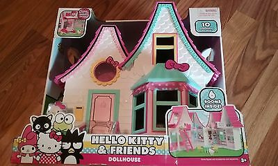 Hello Kitty & Friends Doll House With 10 Accessories (Nib)