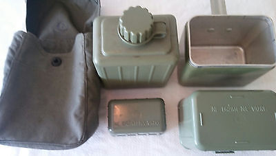 Vintage Military Mess kit Canteen set Water Bottle Flask ex Yugoslavia Army Bag