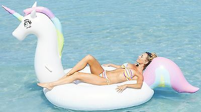 Pool Floats for Women Rainbow Unicorn 8.5 Ft. Float Swimming Inflatable Rafts