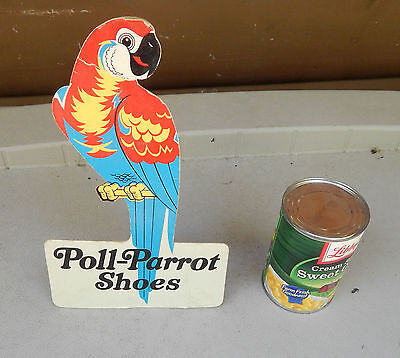 Poll Parrot Shoes Rare Stand Up Store Cardboard Display
