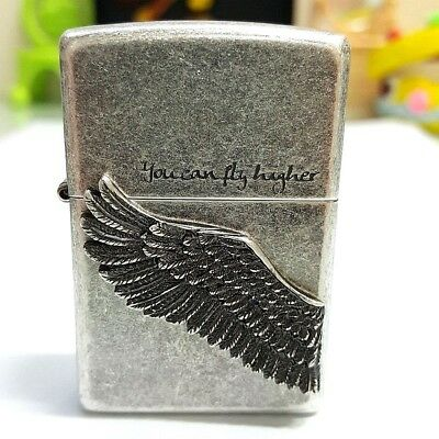 Zippo Higher Silver Wing Lighter Genuine Original Packing 6 Flints Free GIFT