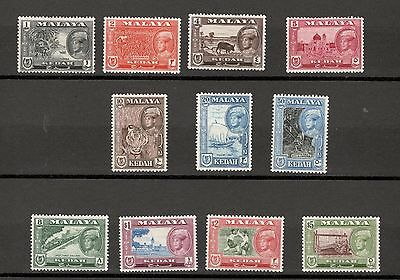 Kedah Malaya 1959 Definitives Mh Set Sg104-14 (11V)