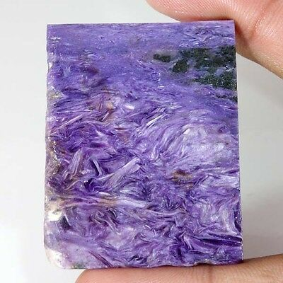111.60Cts 100% Natural Russian Charoite Rough Slab Specimen Cab Lapidary