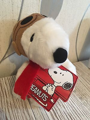 "Peanuts Snoopy Plush Pilot 7.5"" Cuddly Soft Toy Teddy by AURORA Charlie Brown"