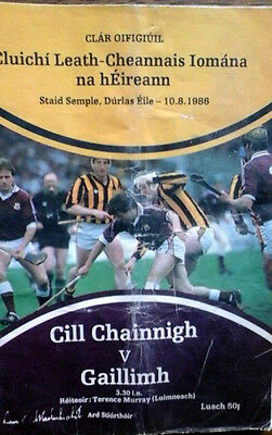 Galway V Kilkenny 10/8/1986 Gaa All Ireland Hurling Semi Final @ Semple