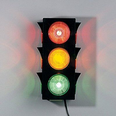 Stand Alone Large Blinking Traffic Light Wall Mount Stop Go Ready Toys