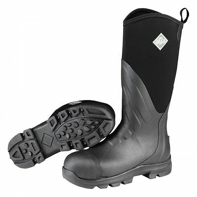 NEW MGST-000 Boots Muck Grit Safety Steel Toe Waterproof Work Boot Adult Black