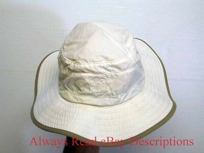 OUTDOOR RESEARCH SUN HAT - UPF Nylon Chin Strap White Packable - Medium EUC MINT