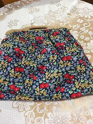 Cotton Floral Knitting / Craft Bag