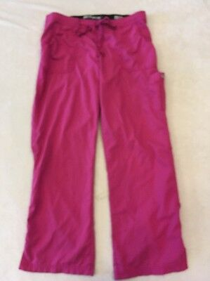 Grey's Anatomy Scrub Pants Large Womens Pink Purple Cargo Pocket Nurse Flaw