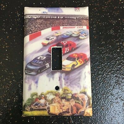 Switch Plate Cover Race Car Switchplate Wall Decor Childrens Room Wall Decor
